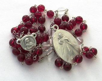 Divine Mercy Catholic Prayer Chaplet St Faustina Handmade Devotional