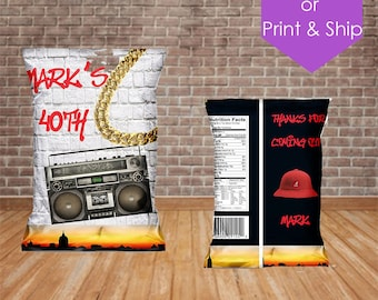 Old School Hip Hop Throwback Boombox 80's/90's Chip Bag