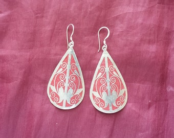 Handcrafted Silver plated earring
