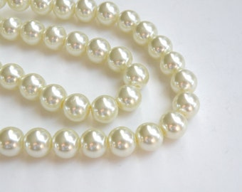 lot of 350  Vintage White high quality 8mm Pearl Beads