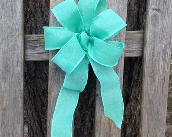 Aqua Mint Green Bow ribbon Turquoise Chair Pew summer wedding gift bows garland spring decoration