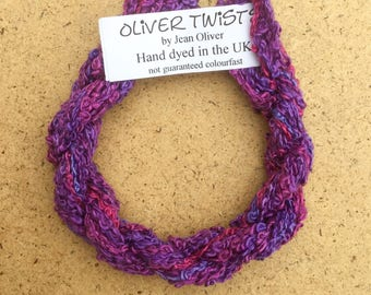 Silk Boucle No.05 Violet, Hand Dyed Embroidery Thread, Artisan Thread, Textile Art, No.05 Violet