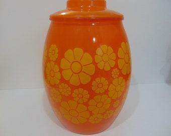 Bartlett Collins Orange Multiple Daisy Jar