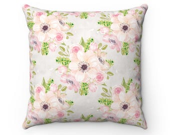 Pink Floral Cushion Cover, Decorative Pillow, Pillow Cover, Cushion, Cushion Covers, Floral Cushion, Pillow, Throw Pillow, Floral Pillow