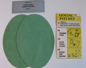 Elbow Patches - Green Ultrasuede - Set of 2