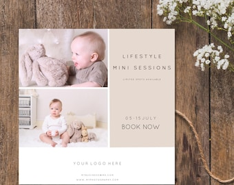 Lifestyle Mini or Full Session Advert / Template/ Marketing