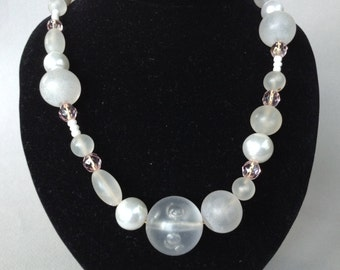 Teresa Goodall Hand Crafted Lucite and Glass Bead Necklace
