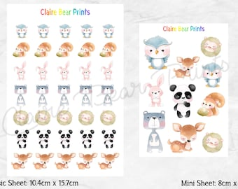 BABY FOREST ANIMAL Planner Stickers (2 options)