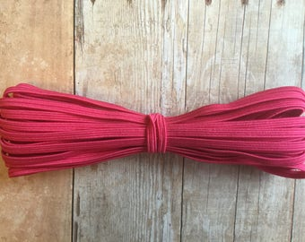 Hot Pink Skinny elastic, 1/8 inch elastic, 5, 10 yards, Headband elastic, DIY headband, Skinny stretch elastic, By the yard, Crafts
