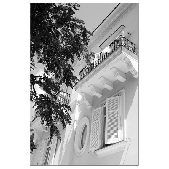 Black and white photography print 6x4 wall art mediterranean retro