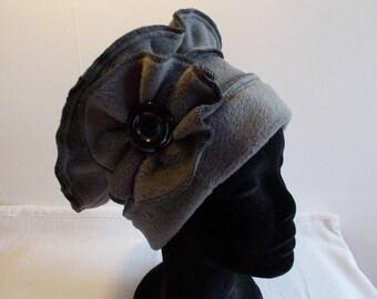 Mouse grey fleece Hat