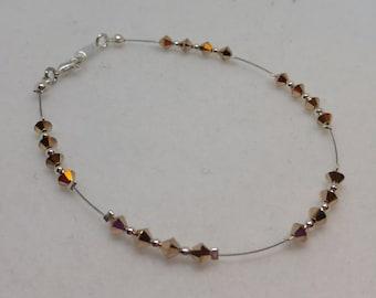Swarovski Crystal Rose Gold Anklet