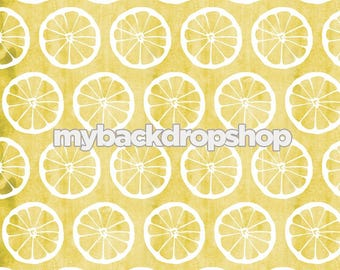 2ft x 2ft Lemonade Photography Prop - Lemon Photo Backdrop - Distressed Yellow floor Drop - Photo Prop for Children - Item 3127