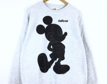 Rare!!! Vintage 80's 90's Mickey Mouse Sweatshirt Made in USA Pullover Jumper Sweater Character Fashions