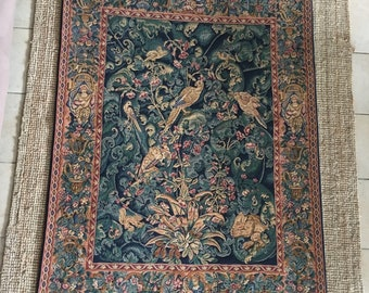 Magnificent classical verdure acanthus leaf hand woven tapestry wall hanging from  Corot, Paris.