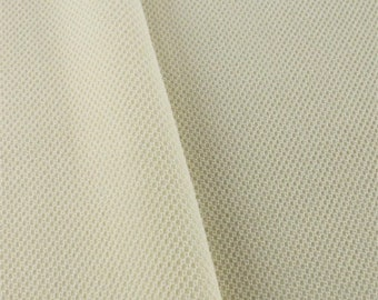 Ivory Textured Waffle Pique, Fabric By The Yard