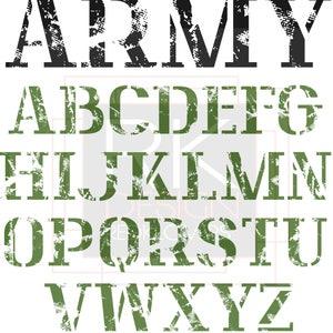 SVG Silhouette DXF distressed retro alphabet for printing, graphic tshirt design files