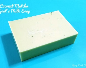 Coconut Matcha Tea Goat's Milk Soap /  / Soap Nerd Shop