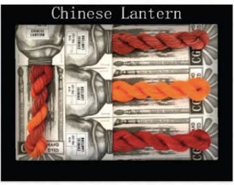 Chinese Lantern Cottage Garden Threads Stitchers Palette -CGT- 6 Strand Cotton embroidery thread- Hand Dyed Thread-Quilting Australia
