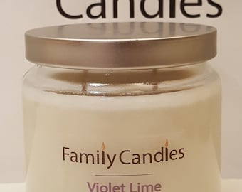 Family Candles - Violet Lime 16 oz Double Wicked Soy Candle