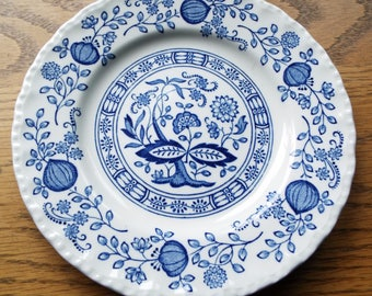 Enoch Wedgwood (Tunstall) Ltd. Blue Onion Dish