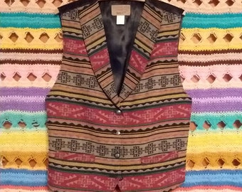 Vintage Knockabouts by Pendleton printed wool vest