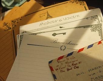 2 Sets Kraft Paper Letter Writing Paper Sets-European lace