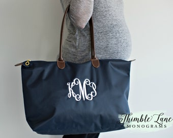 Personalized Tote Bag for Bridesmaids, Large Monogrammed Tote Bags, Personalized Bags for Gifts, Embroidered Totes Bridesmaids, NT118