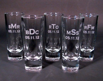 Personalized Etched Shot Glass - Listing of 1 Glass
