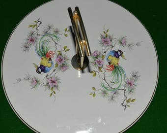 "1950s French vintage Antique Porcelain Cheese platter tray by Salins,France. ""Valreas"" series"