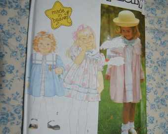 Simplicity 7131 CHilds Dress and Coat Sewing Pattern - UNCUT Size 2 - 6X
