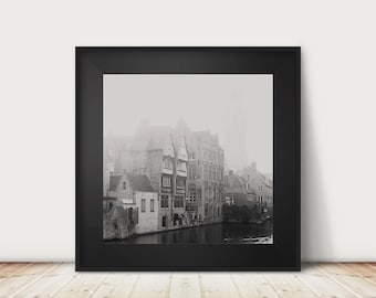 bruges photograph black and white photograph architecture photograph travel photograph europe photograph belgium photograph