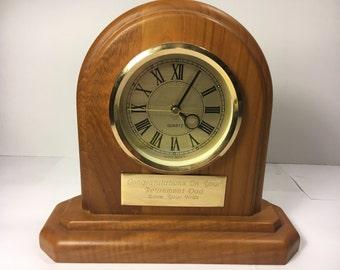 Vintage Quartz Clock, Brown Clock Japan Move't Retirement Gift For Dad