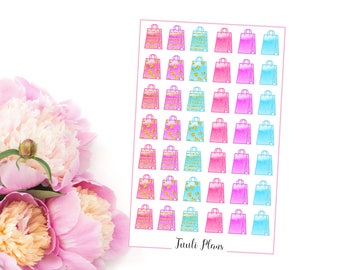 Planner stickers: Shopping bags #2  | Perfect for your filofax / erin condren planner etc