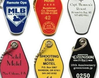 6 Motel Laser Engraved Acrylic Key Tags