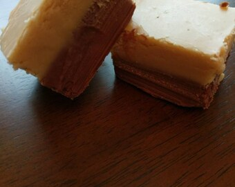 Double decker fudge 1/2 pound