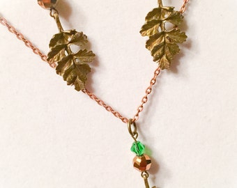 Fall jewelry, leaf jewelry, leaf necklace and eartings, fall necklace, fall leaf necklace, autumn jewelry, autumn necklace set, thanksgiving