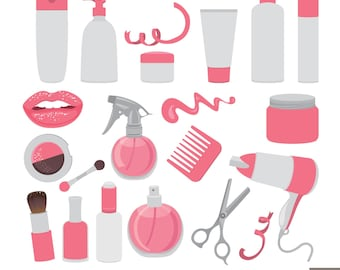 Make Up Digital Clipart, Cosmetic Clipart