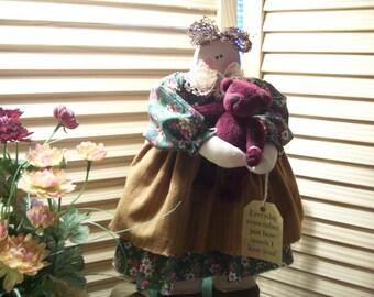 Engel Puppe Molly und Cranberrie-Bär