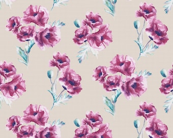 Bloom Berry - Printed Cotton Fabric
