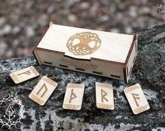 White runes set in box