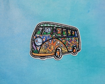 Volkswagen Patch   Hippie Car, Psychedelic, Trippy, Tumblr Patches