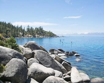 Lake Tahoe Photography, Lake and Mountain Photography, California Lake Landscape, Lake House Art, 8x10 Photo, Art Decor