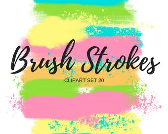 Brush stroke clipart - Paint blob clipart - Paint Splatter clipart - commercial use