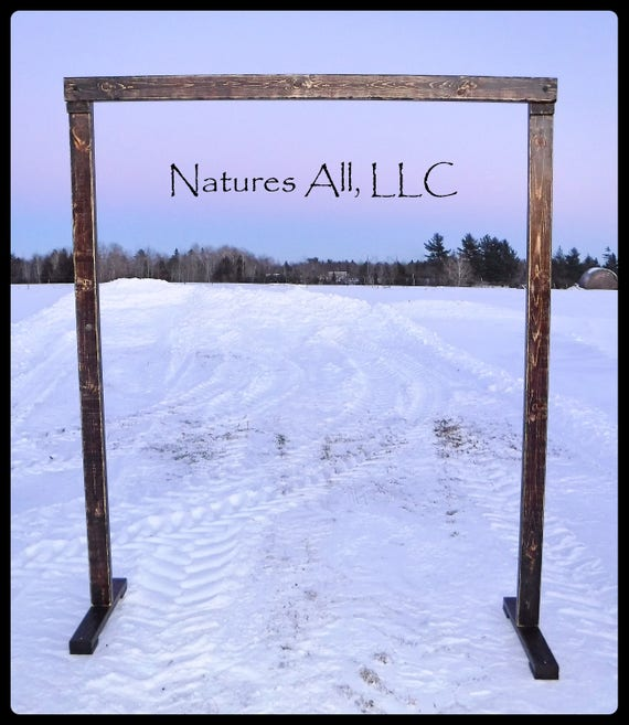 Wedding Arch/Wedding Arbor/Rustic Wedding Arch/Complete Kit/ Indoor Or Outdoor/Country Wedding Backdrop/Distressed Walnut/Shipping Included