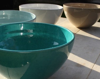 Artisan crafted extra large serving bowls