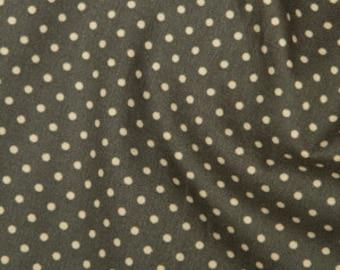 Slate polka dot cotton fabric