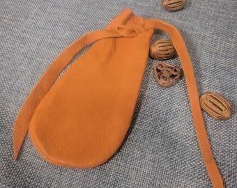 Saddle Tan Buckskin Treasure Pouch