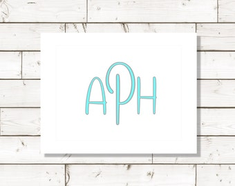 Note Cards, Monogram cards, Birthday cards, Thank You Cards, Thank You Notes, Fun Note Cards