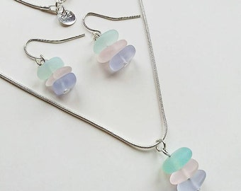 Sea Glass Necklace | Beach Glass | Mermaid Jewellery | Beachy Necklace | Sea Glass Earrings | Sea Glass Beads | Gift For Her | Valentine's